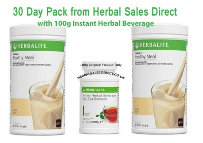 Herbalife 30 Day Pack (3 day trial products) with 100g Beverage
