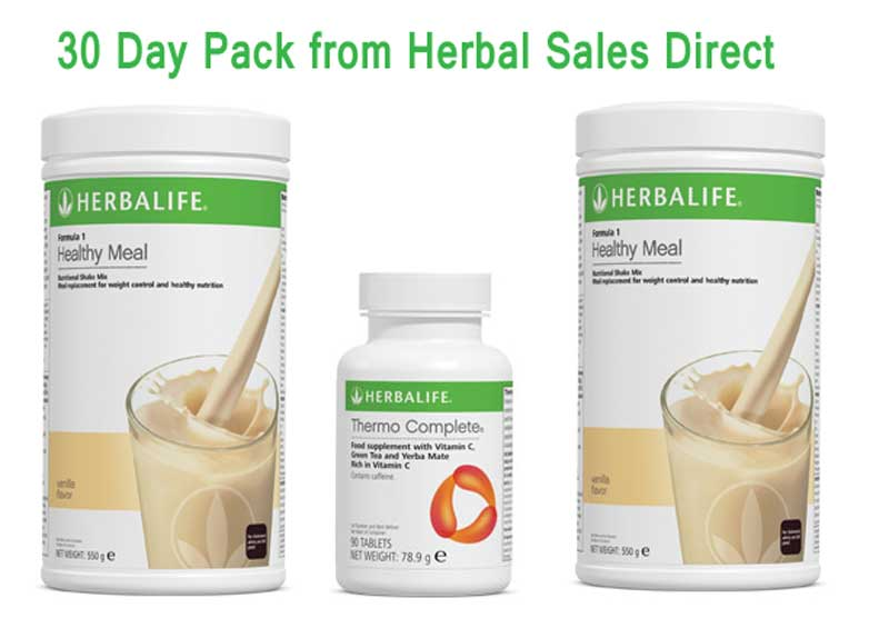Herbalife 30 Day Pack 3 Day Trial Products With Tablets